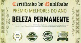 Certificado de Qualidade - Melhores do Ano 2017